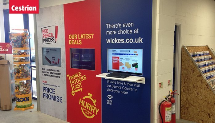 WICKES INTEGRATED TENSION FABRIC DISPLAYS