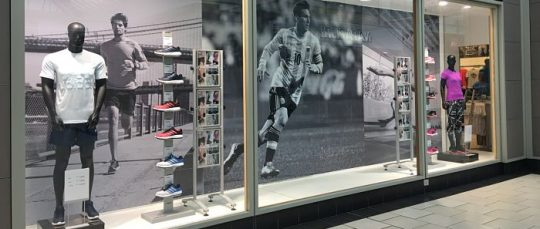 Adidas Window Display Graphics