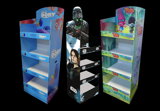 Cestrian Free Standing Display Units For Retail Displays