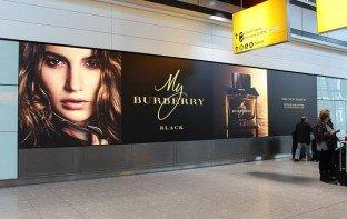 Heathrow Airport Burberry Fabric Graphic