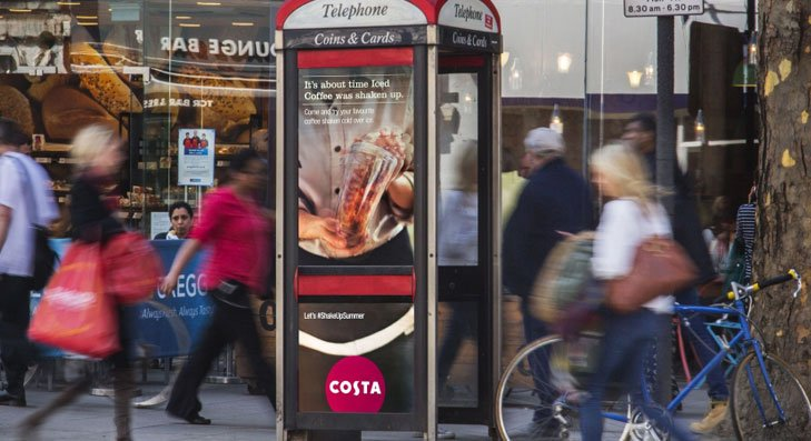 Costa Phone Box Advertising